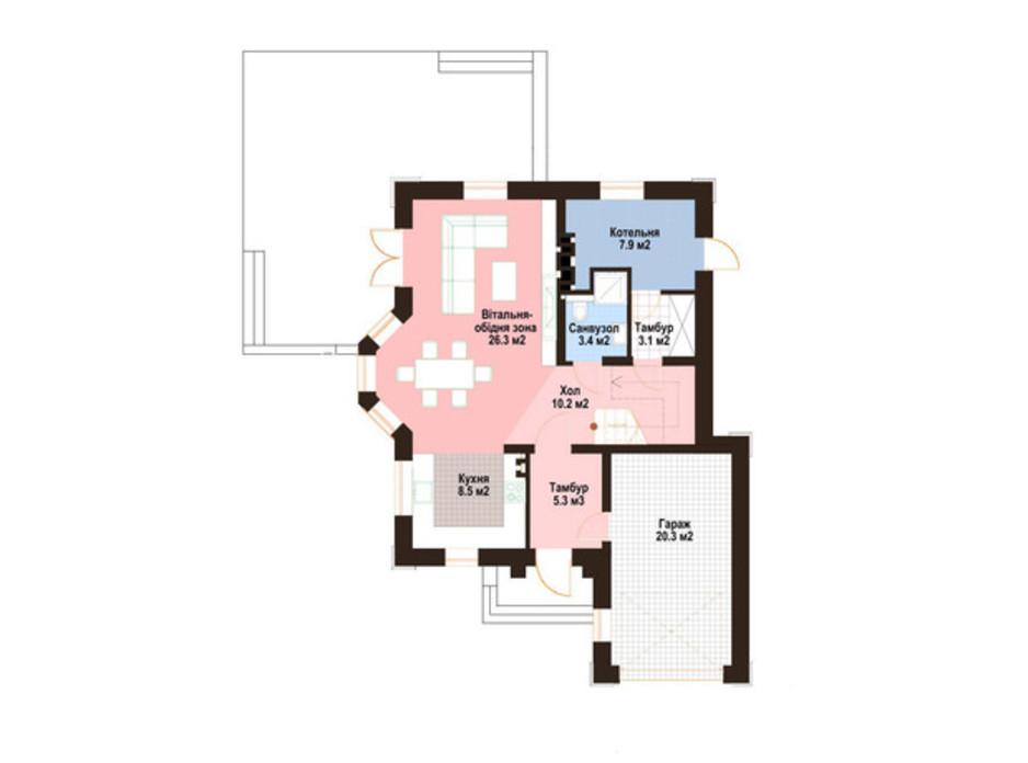 Планування котеджу в КМ Praud Hills 159 м², фото 298626