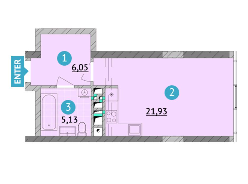 ЖК Smart Plaza Obolon планировка 9