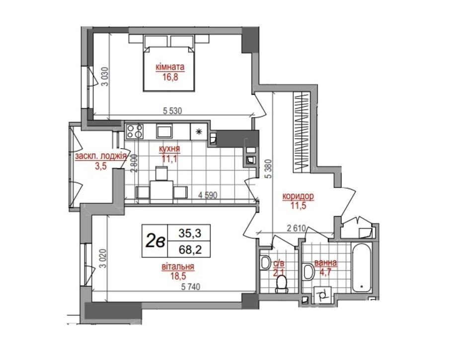 ЖК West House планування 16