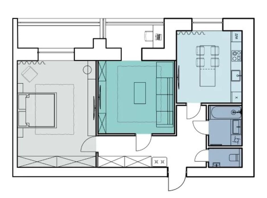 Планировка 2-комнатной квартиры в ЖК Comfort House 79.8 м², фото 317342