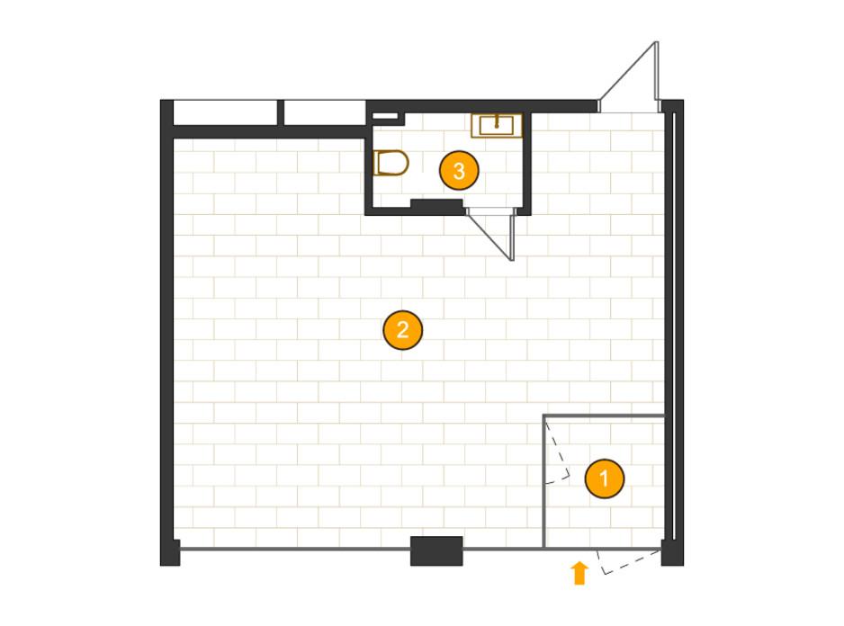Планировка помещения в ЖК Royal Residence 49.91 м², фото 318095