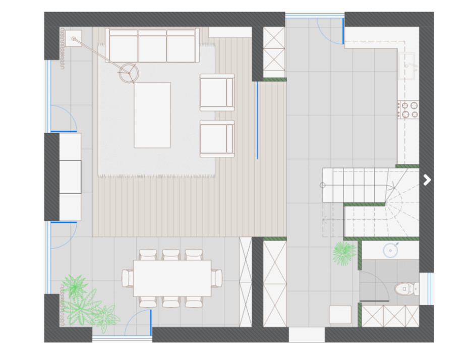 Планування котеджу в КМ KYIV OASIS 150 м², фото 318360