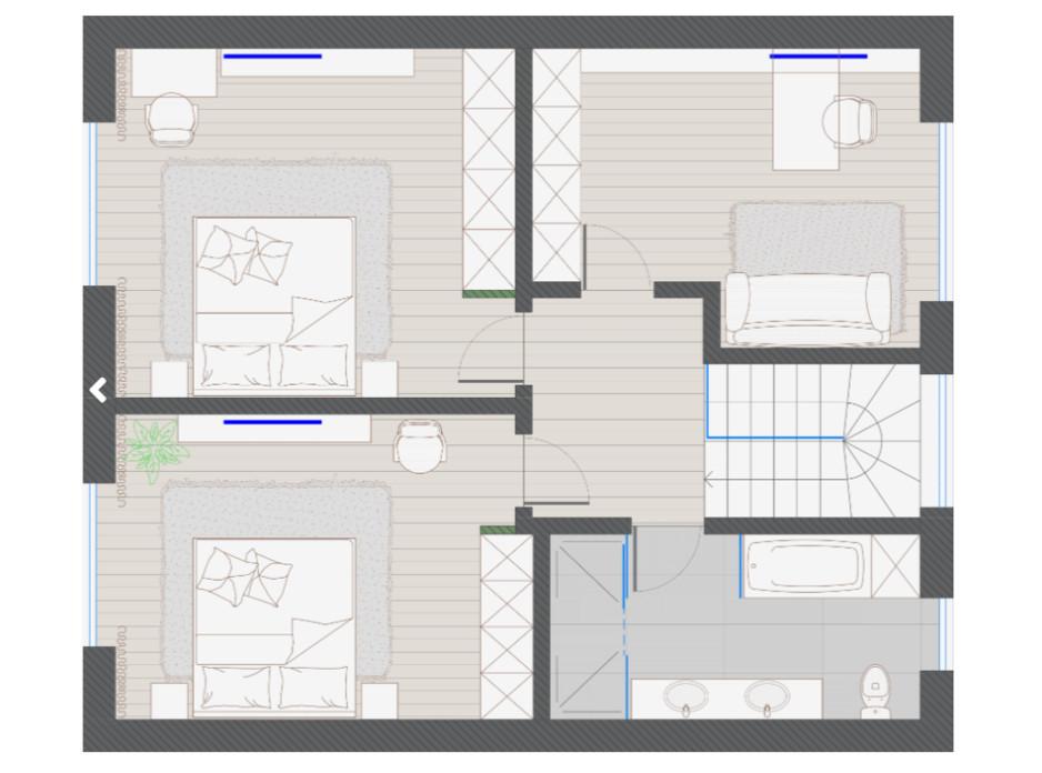 Планування котеджу в КМ KYIV OASIS 150 м², фото 318361
