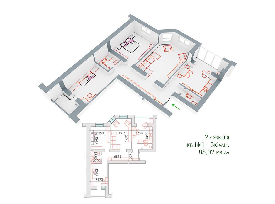 ЖД Липинский планировка 14