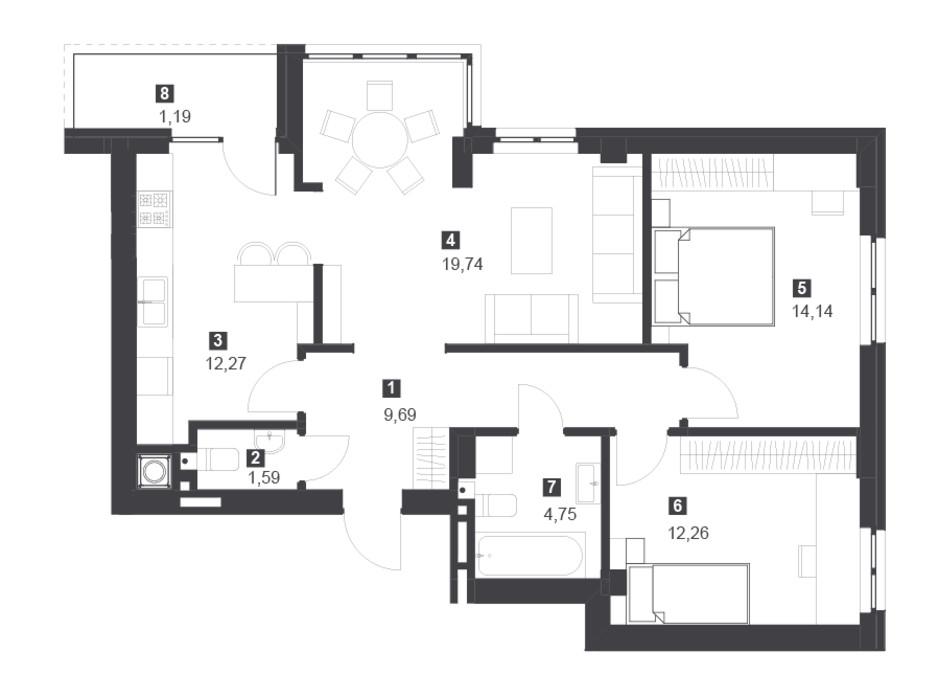 Панорамний будинок з терасами планування 21
