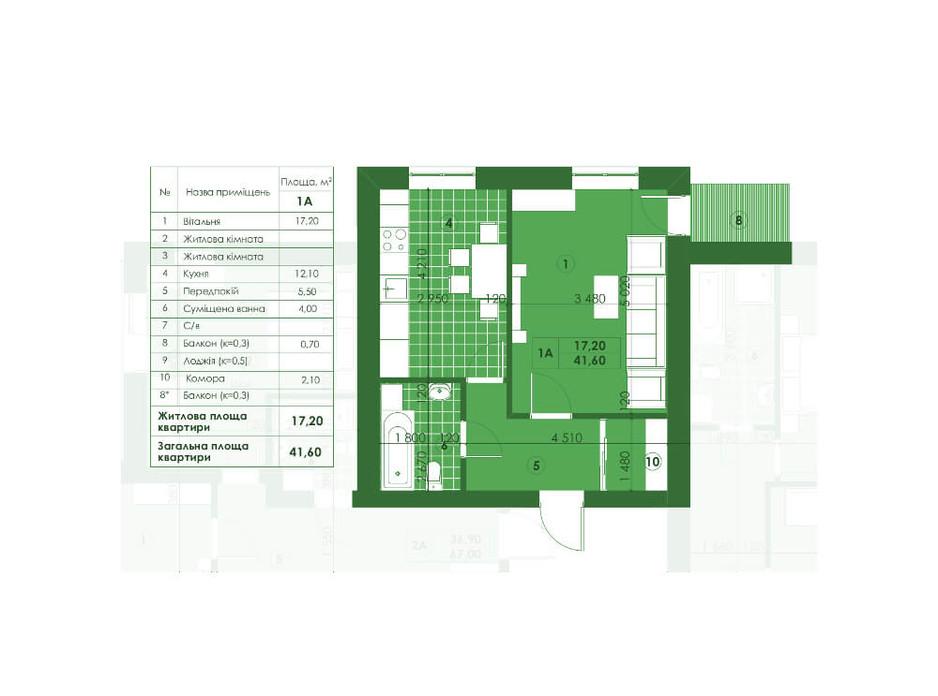 ЖК Квартал Парковий планування 11