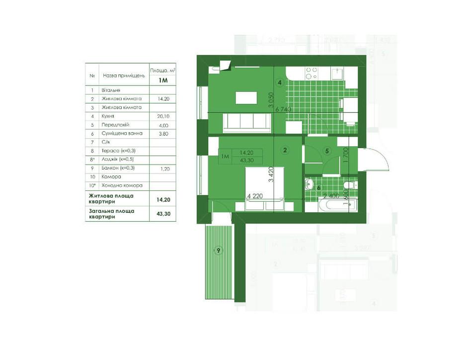 ЖК Квартал Парковий планування 15