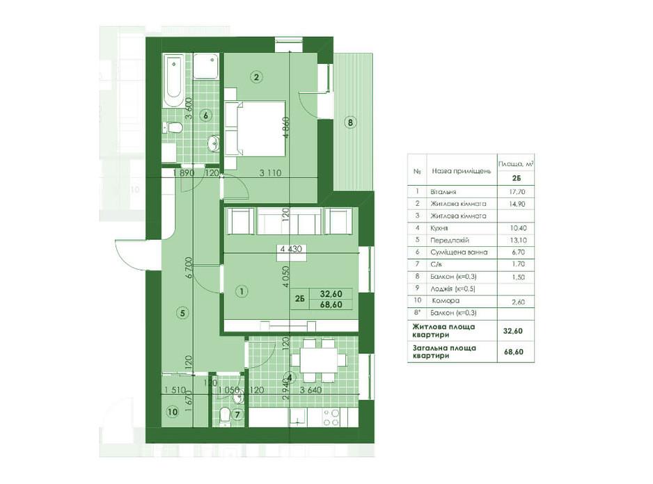 ЖК Квартал Парковий планування 18