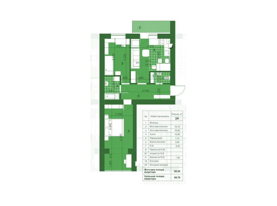 ЖК Квартал Парковий планування 17