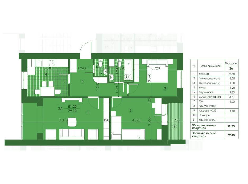 ЖК Квартал Парковий планування 20