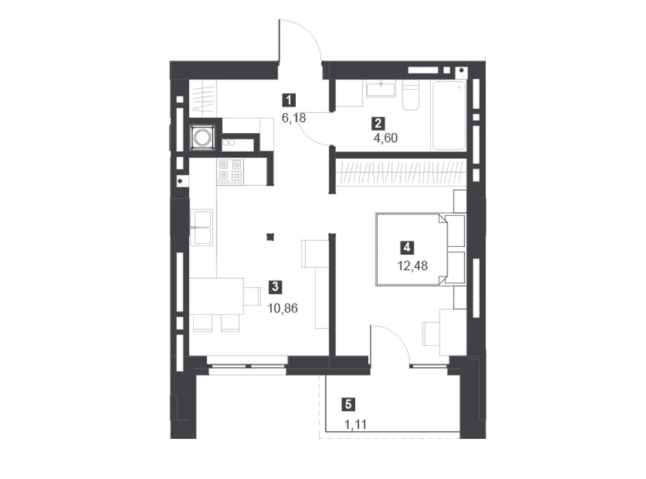 Панорамний будинок з терасами планування 5