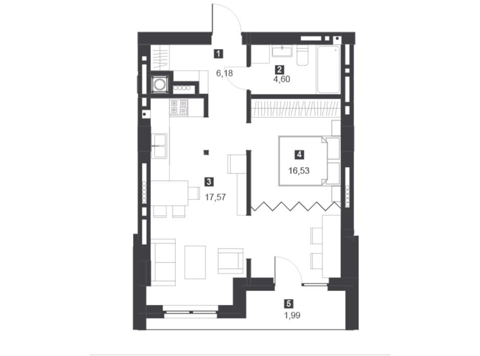 Панорамний будинок з терасами планування 13