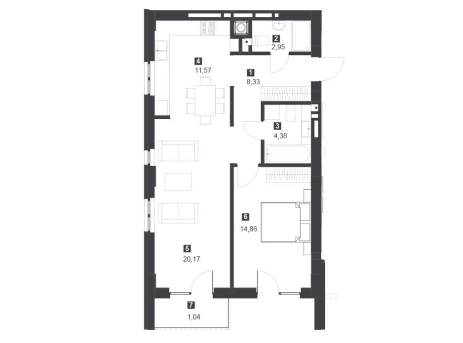 Панорамний будинок з терасами планування 17