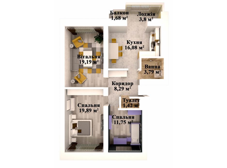 ЖК Caramel Residence планування 18