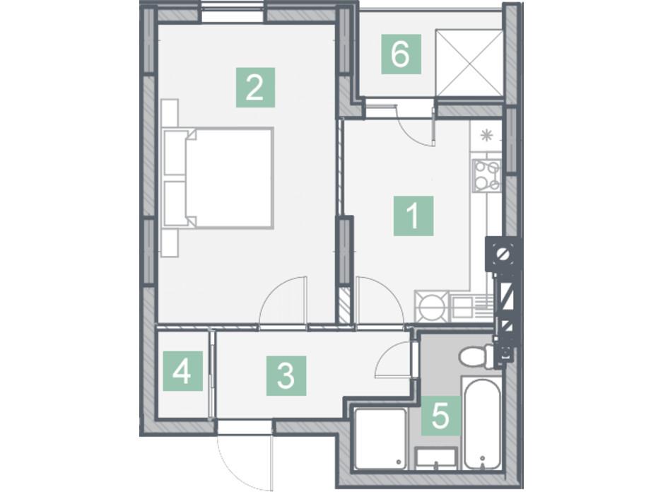 ЖК Клубный дом планировка 6