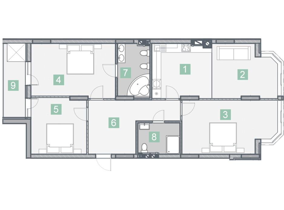 ЖК Клубный дом планировка 14