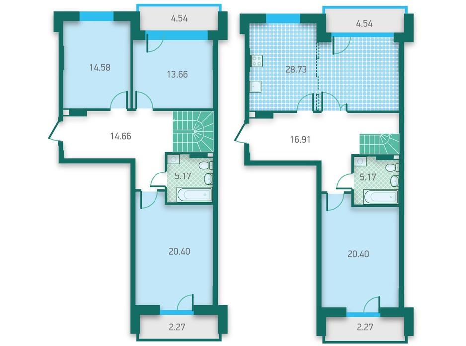 ЖК CRYSTAL HOUSE планировка 36
