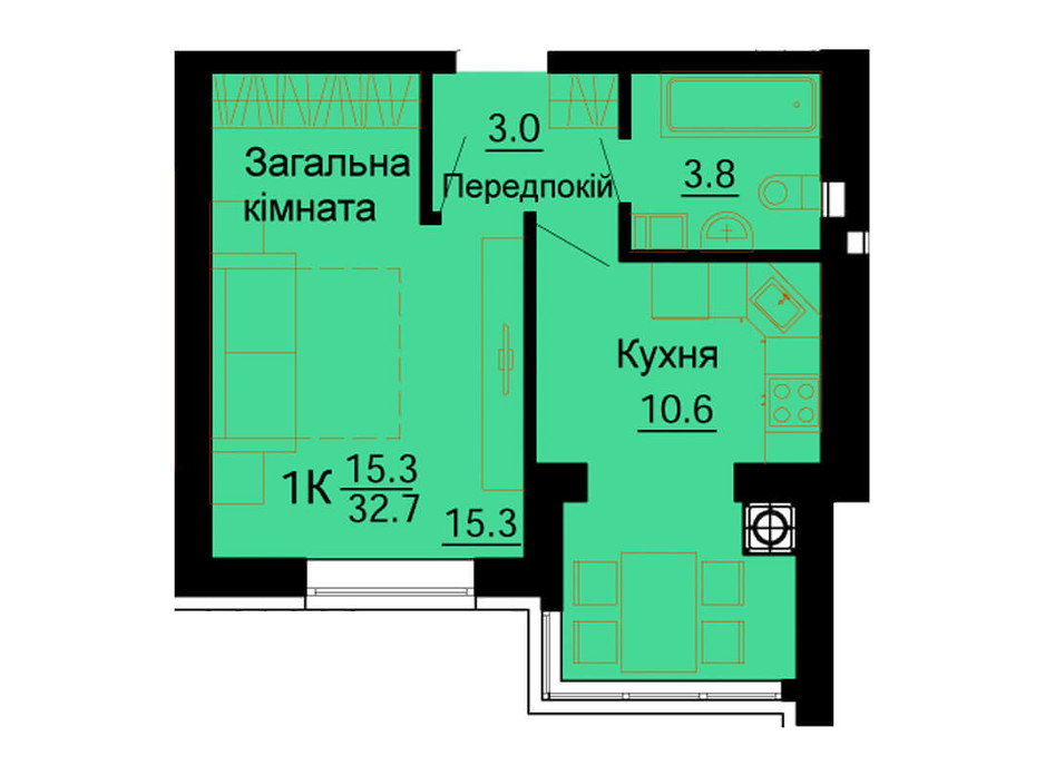ЖК Львовский Маеток планировка 62
