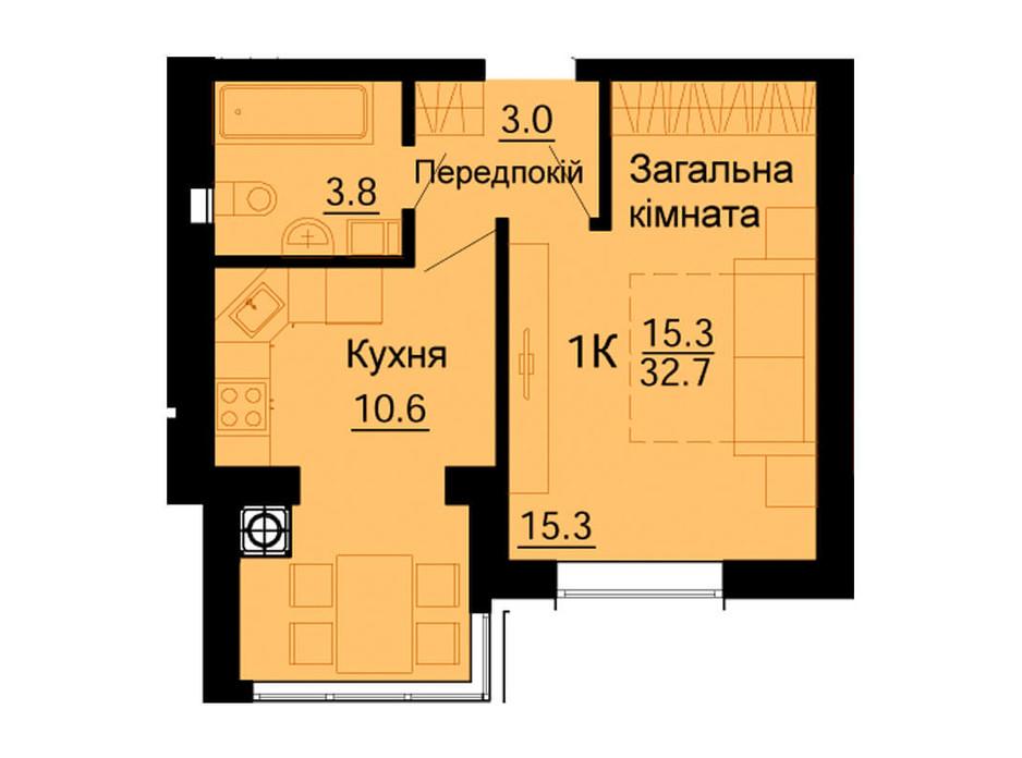 ЖК Львовский Маеток планировка 63
