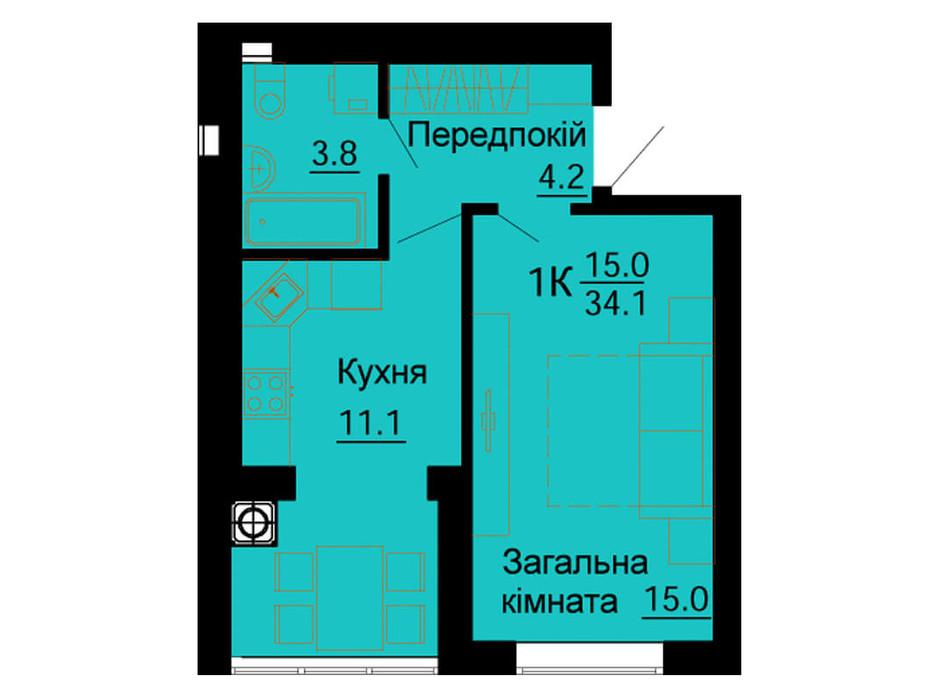 ЖК Львовский Маеток планировка 64