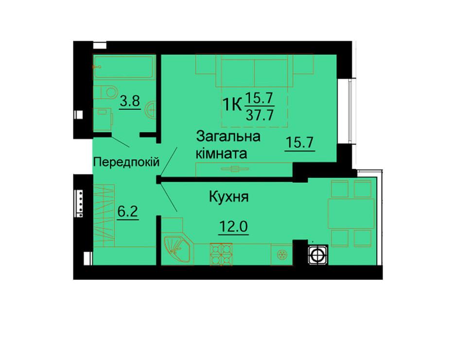ЖК Львівський Маєток планування 70