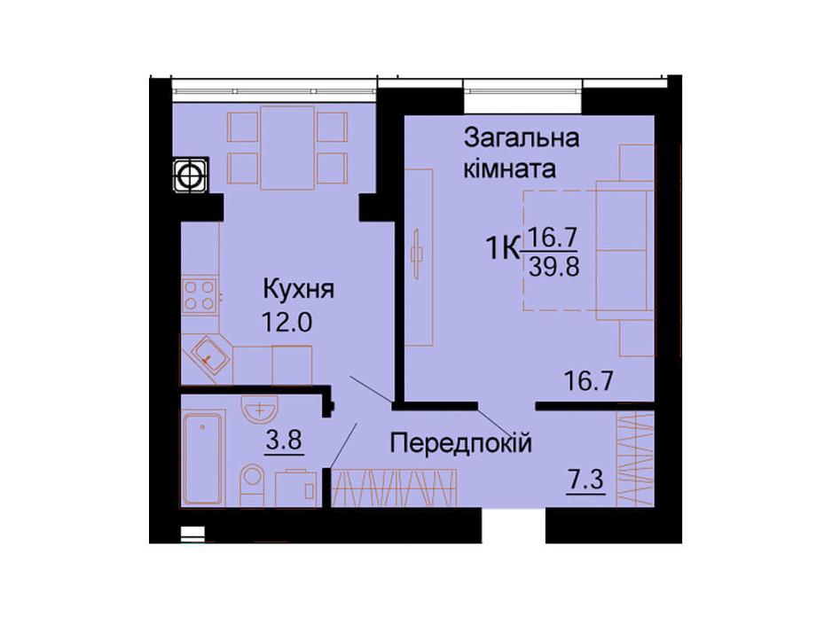 ЖК Львівський Маєток планування 72