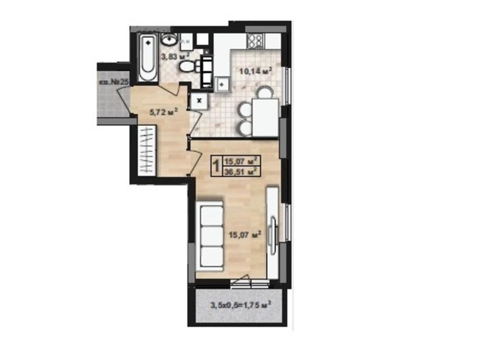 ЖК Green House планування 13