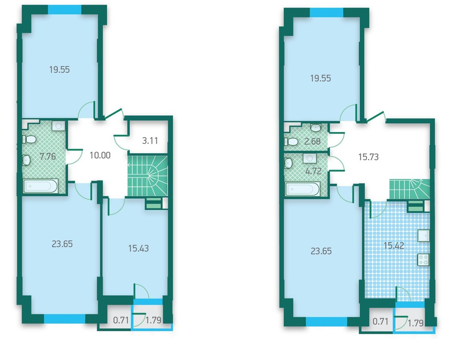 ЖК CRYSTAL HOUSE планировка 38