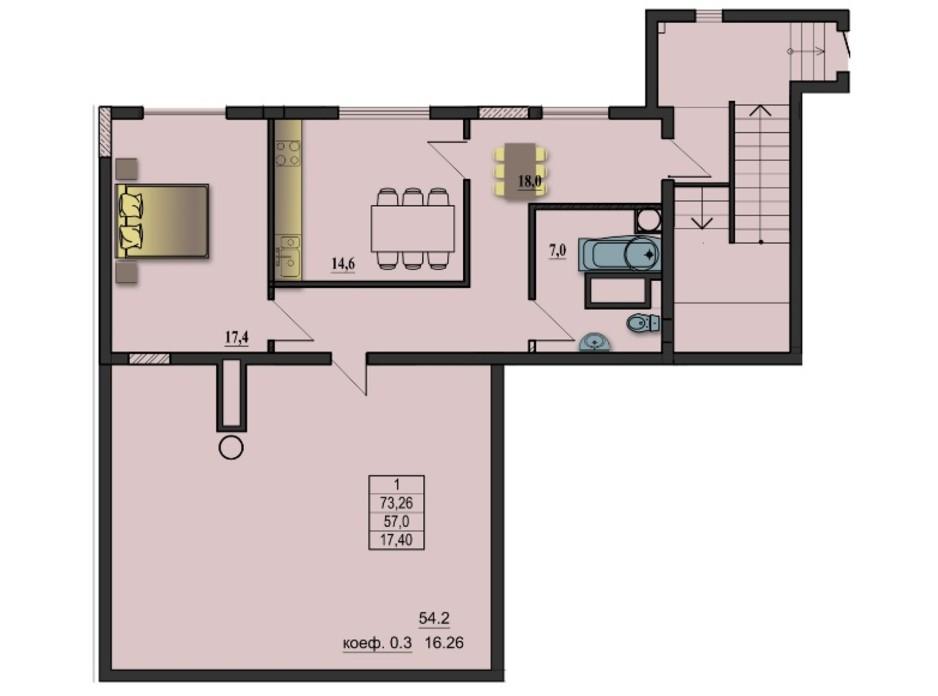 ЖК Премьер-Холл планировка 4