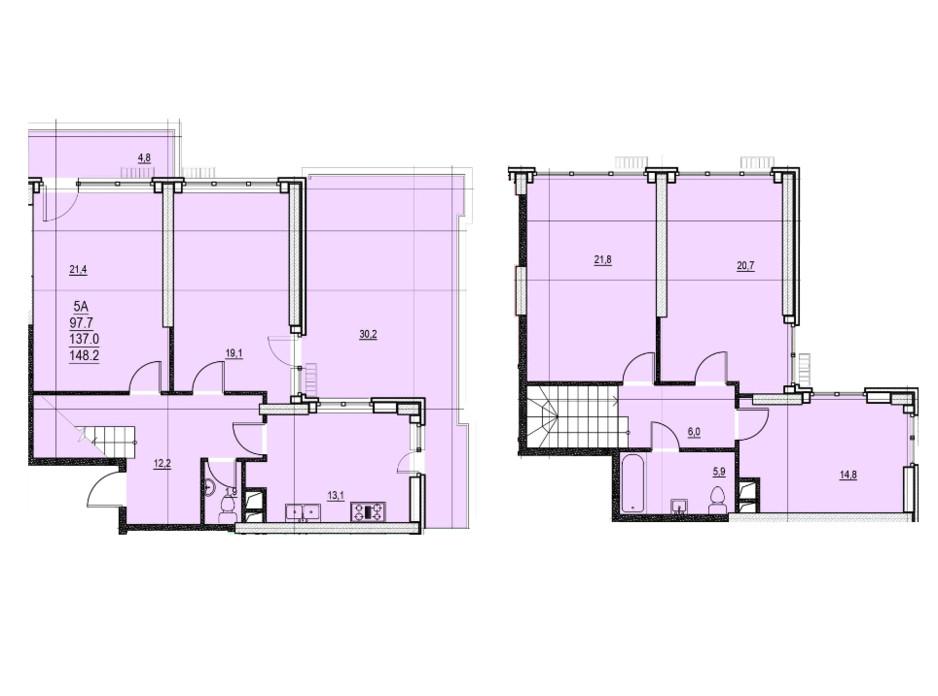 ЖК Група будинків на Французькому бульварі планування 27
