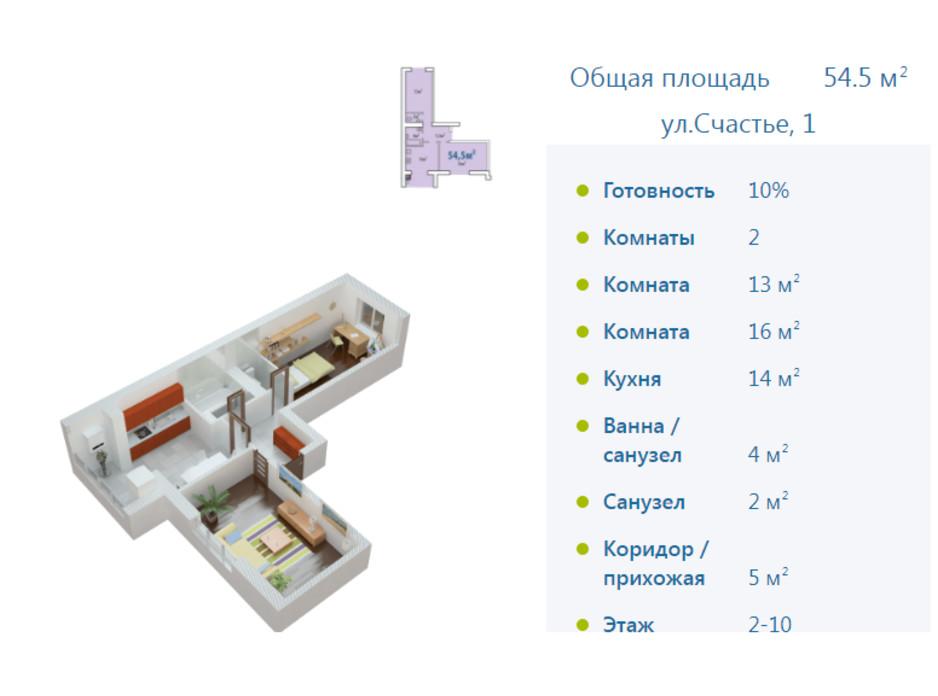 ЖК Европейське місто планировка 42