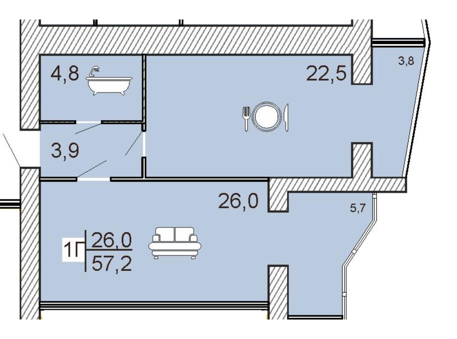 ЖК Семейный Lux планировка 24