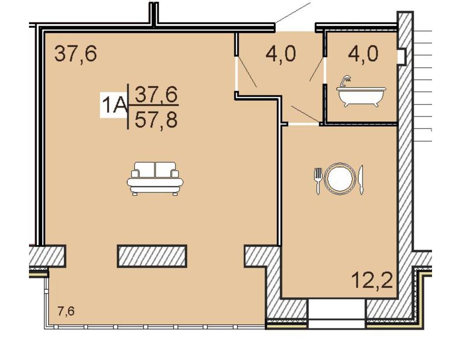 ЖК Семейный Lux планировка 27