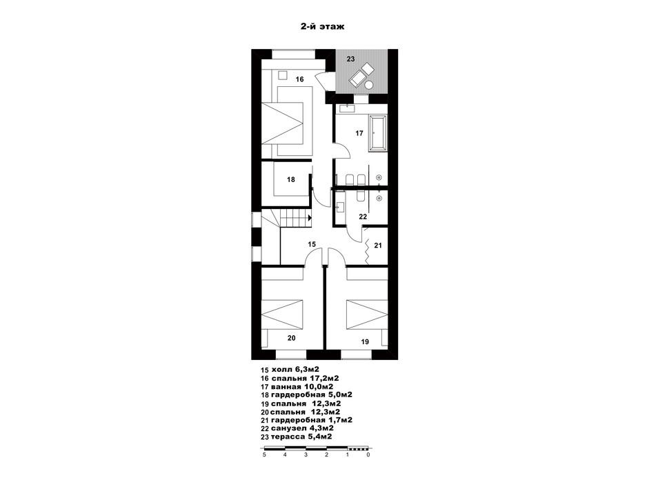 Таунхаус «Пушкинский» планировка 16