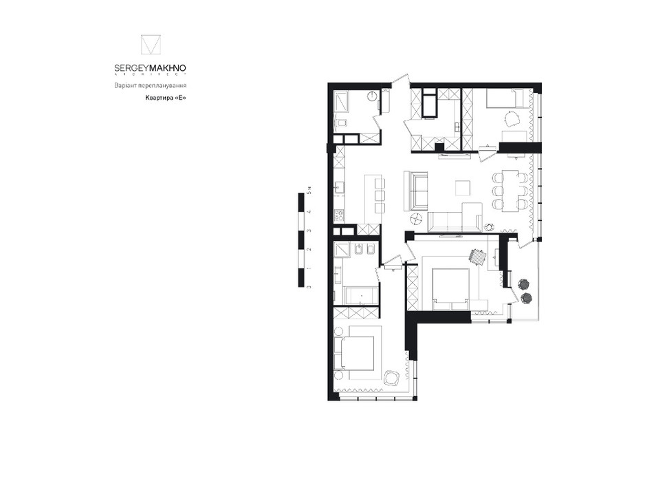 ЖК Skyline Residences планировка 31