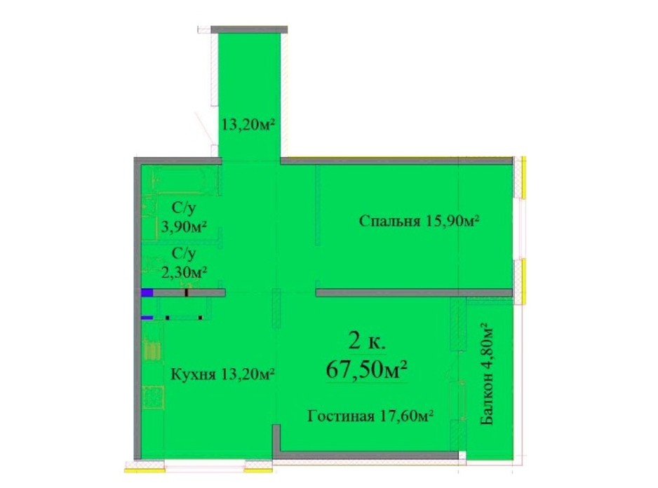 ЖК Альтаир 3 планировка 15