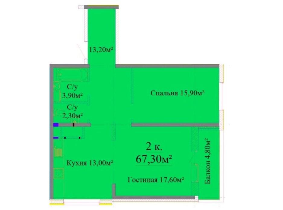 ЖК Альтаир 3 планировка 19
