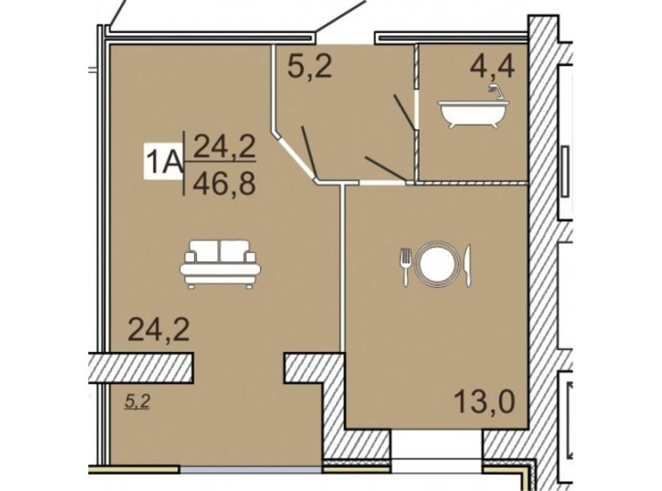 ЖК Семейный Lux планировка 34