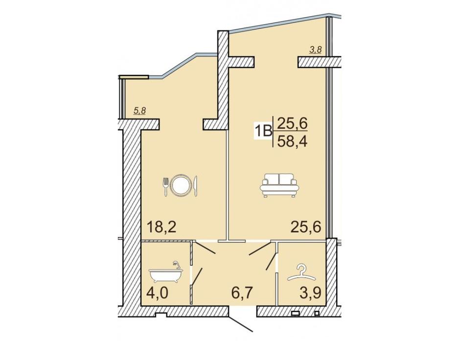 ЖК Семейный Lux планировка 39