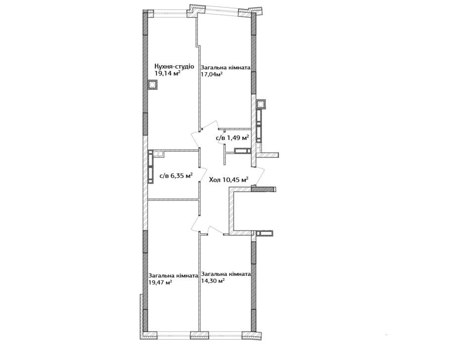ЖК Синергия 3+ планировка 8