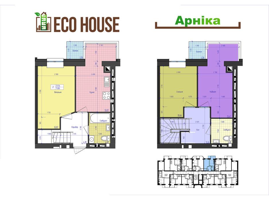 ЖК Eco House планування 27