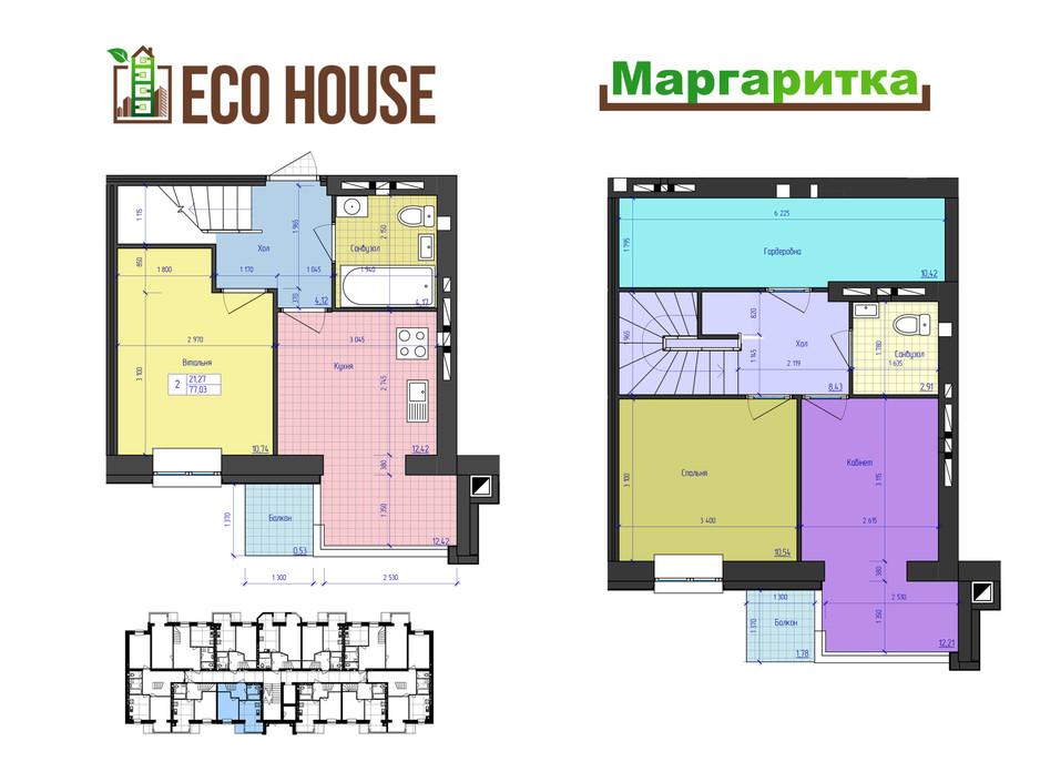 ЖК Eco House планування 31