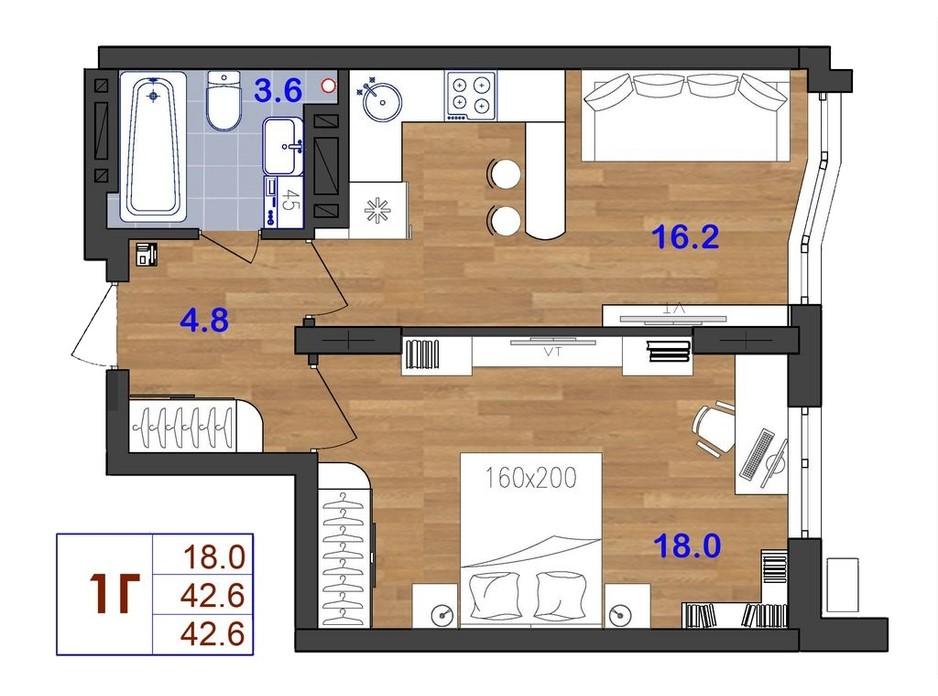 ЖК SunCity планування 12