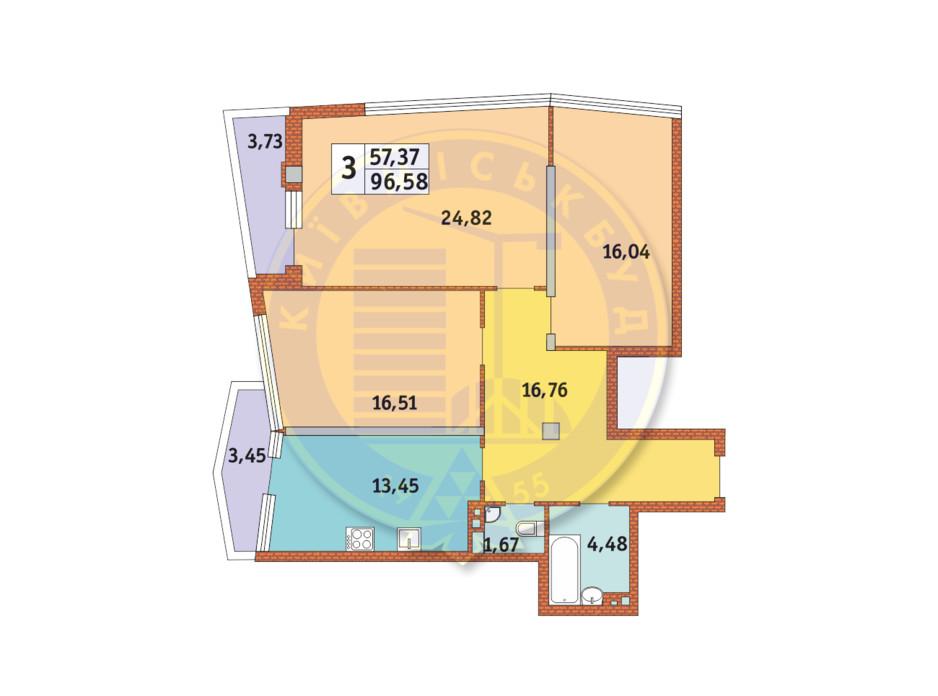 ЖК Costa fontana планировка 11