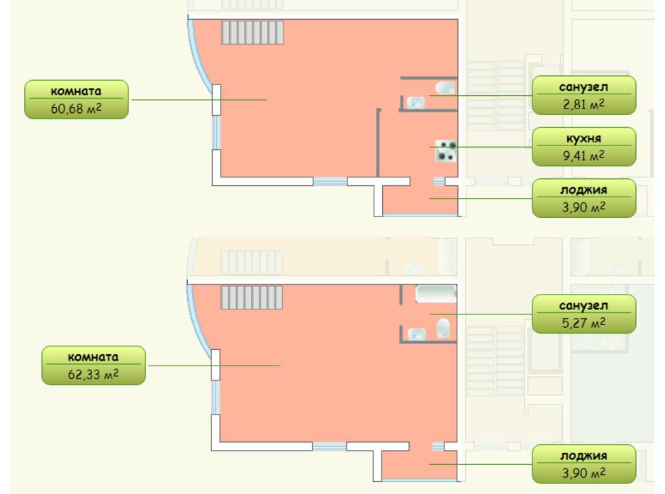 Планування багаторівневої квартири в ЖК Піхтовий 144 м², фото 69534