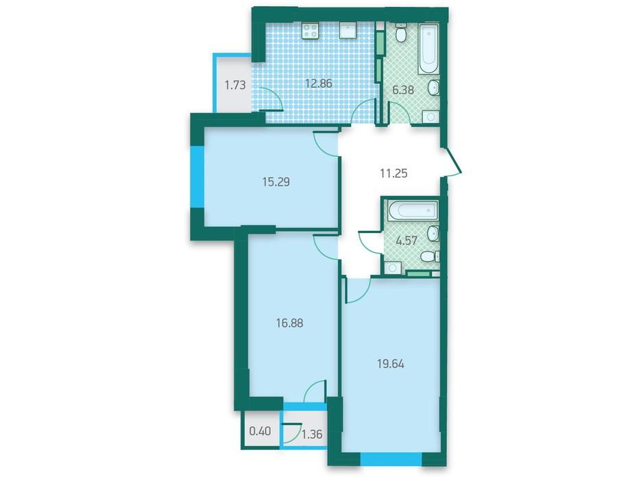 ЖК CRYSTAL HOUSE планировка 33