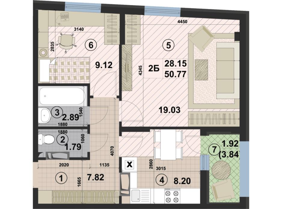ЖК Paradise Avenue планировка 43