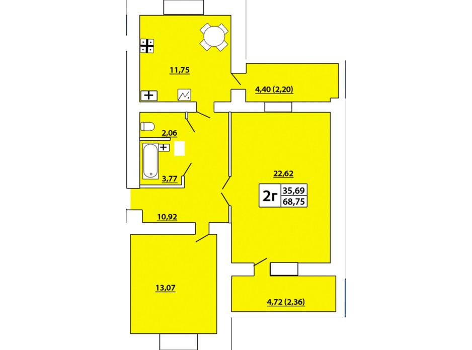 ЖСК «Озерный-3» планировка 11