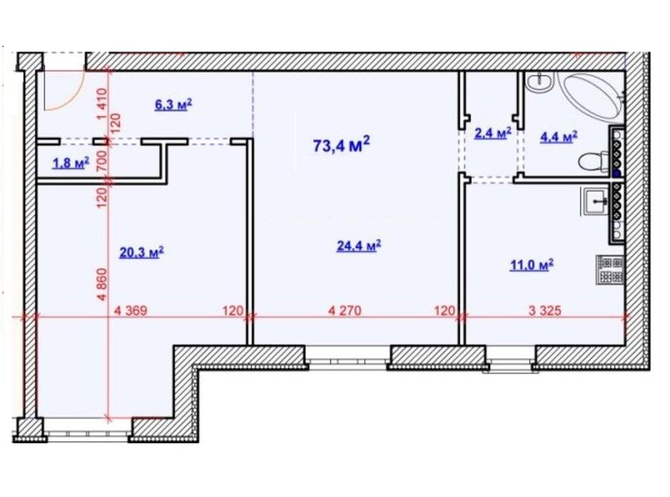 ЖК Будинок на Набережній планування 8