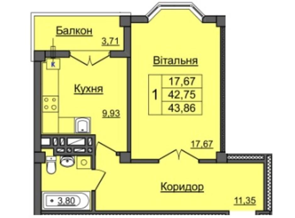 ЖК по ул. Хмельницкого планировка 6